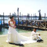 Sonho de noiva japonesa em Veneza.